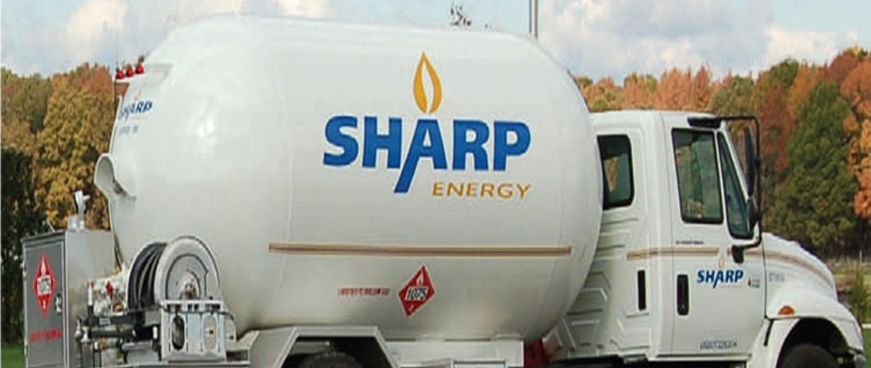 Sharp Energy Propane Delivery Tank
