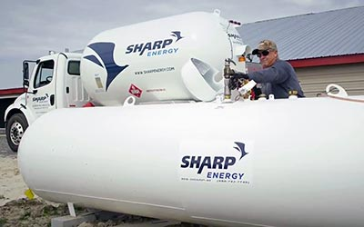 Delivery- Sharp Energy propane tank