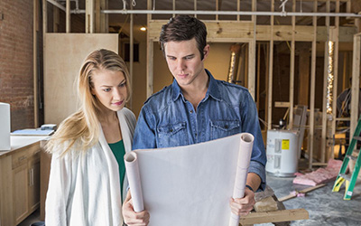 new gas home projects- man and woman with home improvement