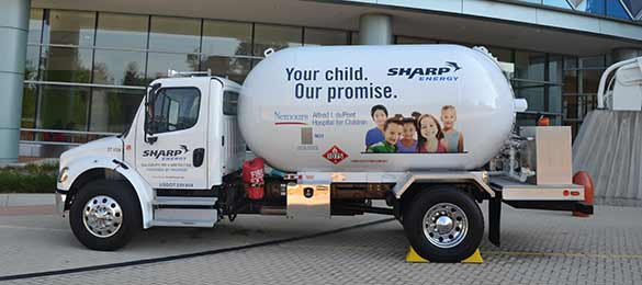 Sharp Energy propane truck