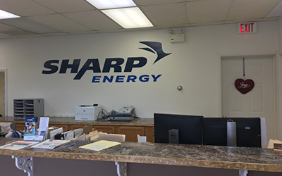 Sharp Energy Propane Gas office in Pocomoke City, Maryland.
