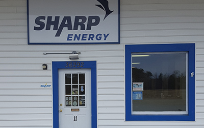 Sharp Energy Propane Gas office in Belle Haven, Virginia..